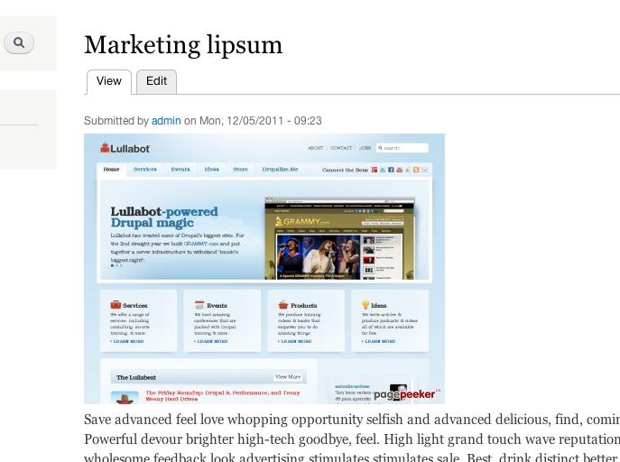 Screenshot of PagePeeker in action