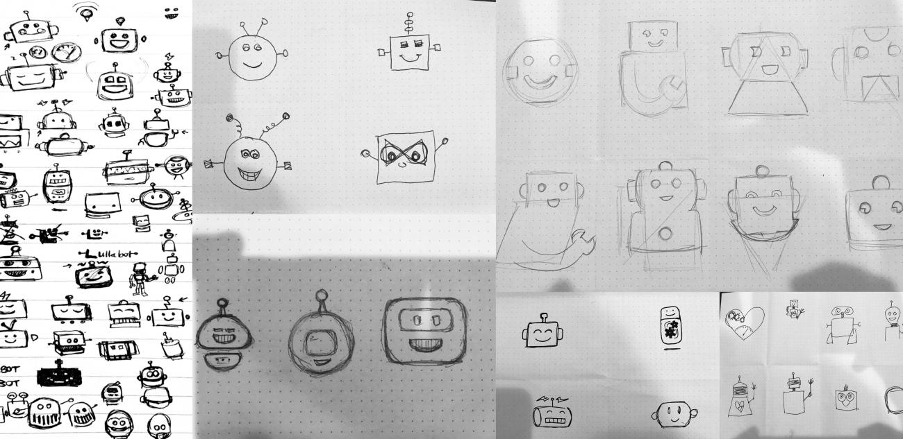 logo sketches by Lullabots