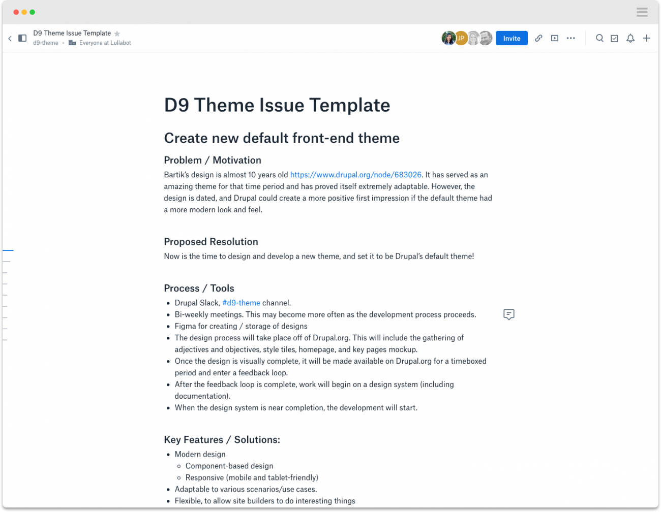 D9 Issue Template