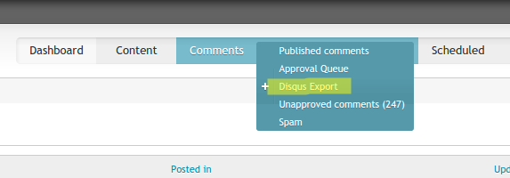 Task to export comments