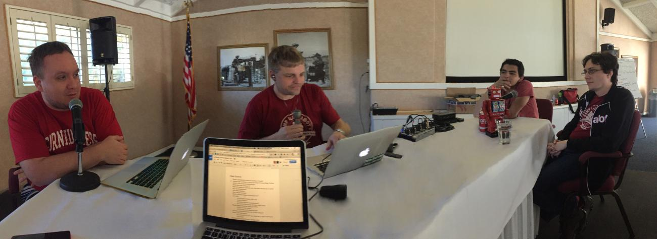 Panorama of the podcast recording in Palm Springs