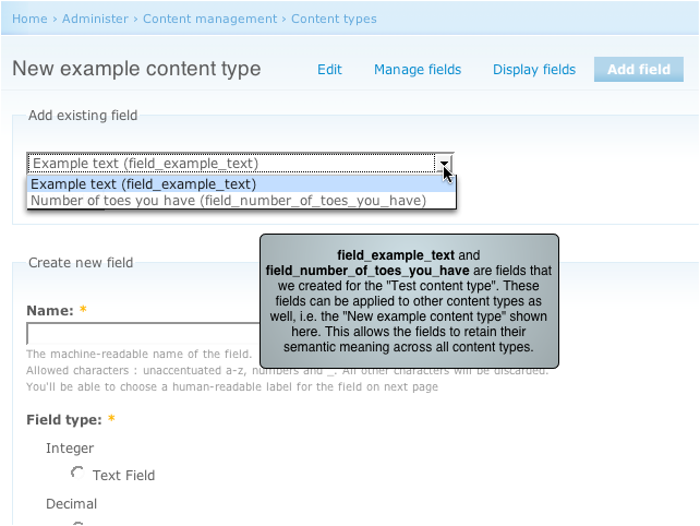 Fields retain semantic value across content types