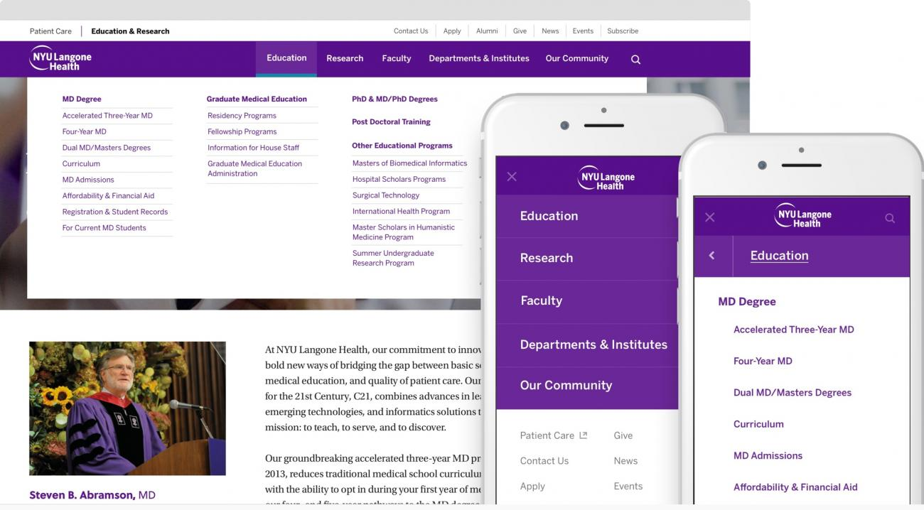NYU School of Medicine on multiple devices