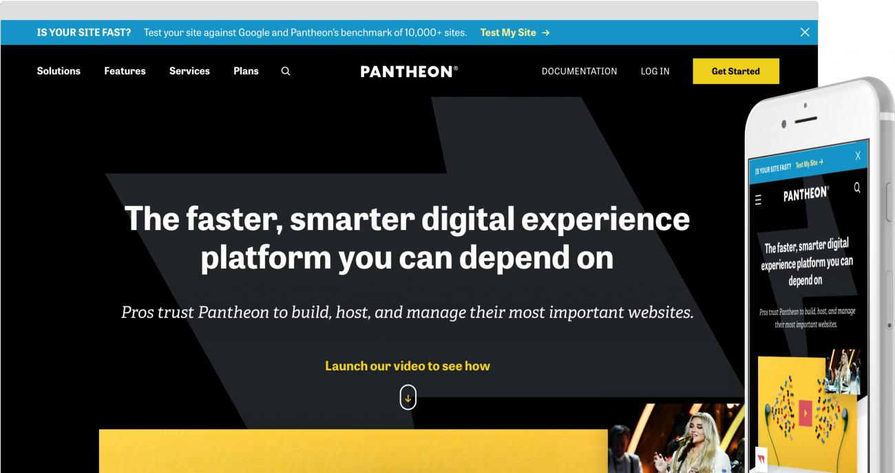 Pantheon website on devices