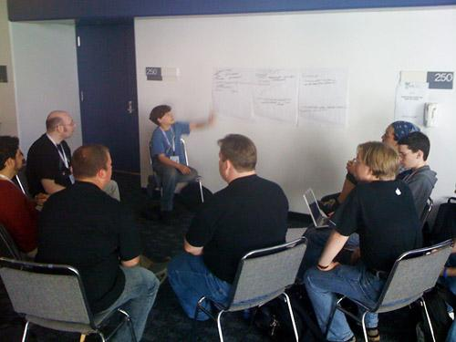 Dmitri leading a discussion at DrupalCon