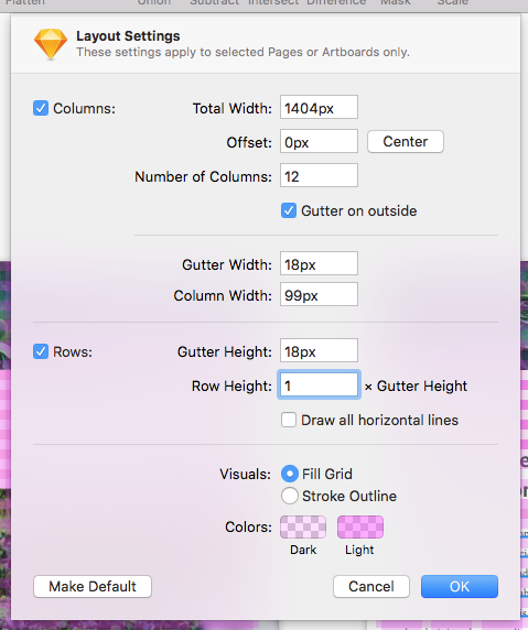 desktop layout settings