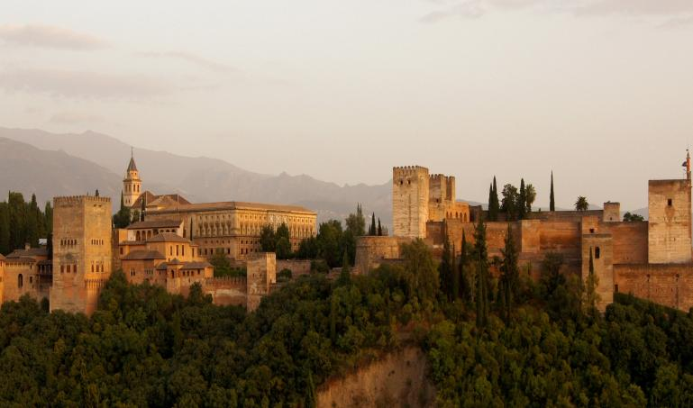 Alhambra castle from Granada