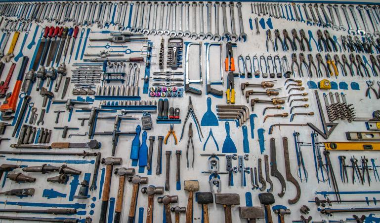 A collection of handheld tools