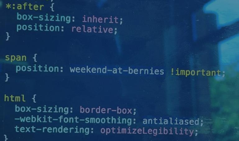 Funny code from a frustrated front-end developer