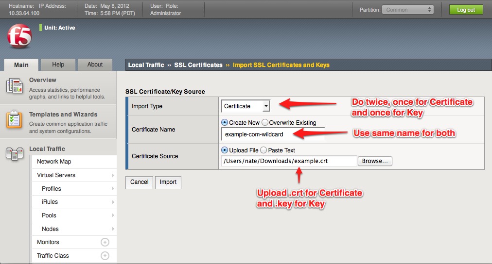 Setting up SSL Offloading (Termination) on an F5 Big-IP Load